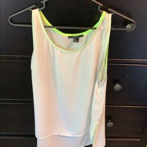 Tops - Tank with fun pop of color!